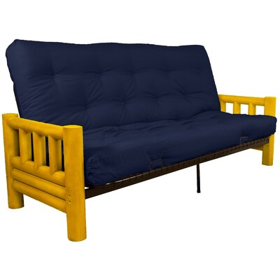 Grand Teton Futon and Mattress Upholstery: Twill Navy, Size: Queen