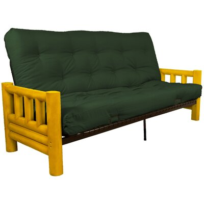 Grand Teton Futon and Mattress Upholstery: Twill Hunter Green, Size: Full