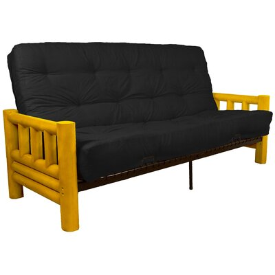 Grand Teton Futon and Mattress Upholstery: Suede Ebony Black, Size: Full