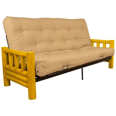Grand Teton Futon and Mattress Upholstery: Twill Khaki, Size: Queen