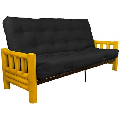 Grand Teton Futon and Mattress Upholstery: Twill Black, Size: Full