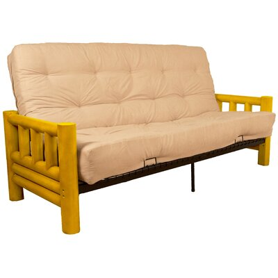 Grand Teton Futon and Mattress Upholstery: Twill Natural-Ivory, Size: Queen