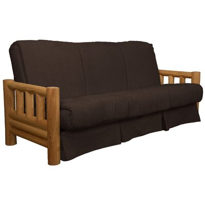 Grand Teton Futon and Mattress Upholstery: Suede Chocolate Brown, Size: Queen