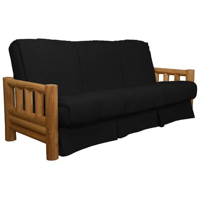 Grand Teton Futon and Mattress Upholstery: Suede Ebony Black, Size: Queen
