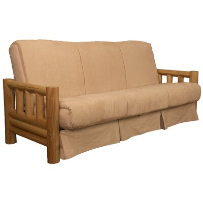 Grand Teton Futon and Mattress Upholstery: Suede Khaki, Size: Full