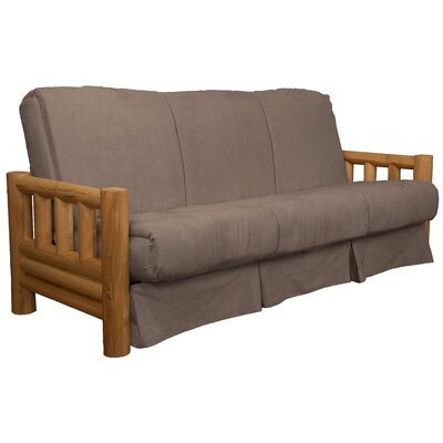 Grand Teton Futon and Mattress Upholstery: Suede Mocha Brown, Size: Queen