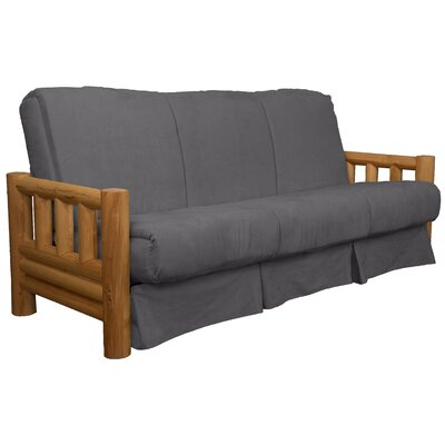Grand Teton Futon and Mattress Upholstery: Suede Slate Grey, Size: Queen