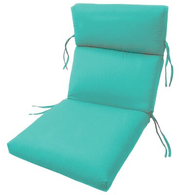 Channeled Outdoor Sunbrella Lounge Cushion Fabric: Aruba