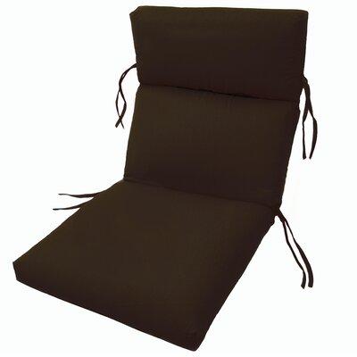 Comfort Clas Outdoor Sunbrella Lounge Chair Cushion - Fabric: Bay Brown