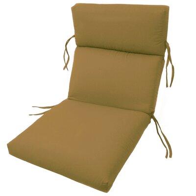 Channeled Outdoor Sunbrella Lounge Cushion Fabric: Brass