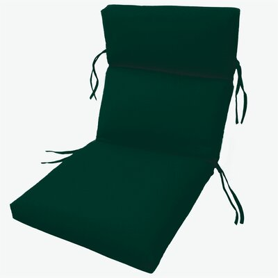 Channeled Outdoor Sunbrella Lounge Cushion Fabric: Forest Green