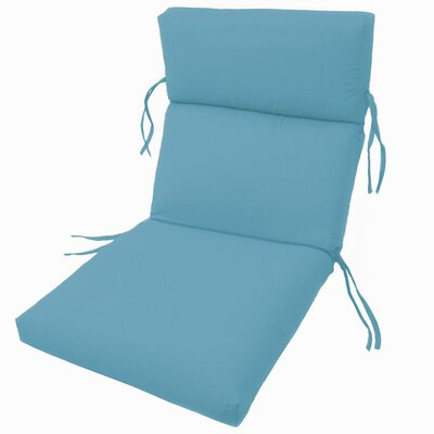Channeled Outdoor Sunbrella Lounge Cushion Fabric: Sky Blue