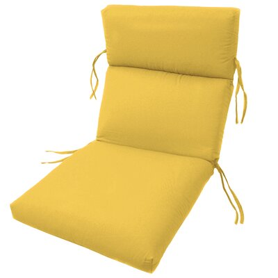 Channeled Outdoor Sunbrella Lounge Cushion Fabric: Sunflower