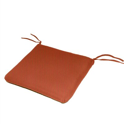 Outdoor Sunbrella Dining Chair Cushion Fabric: Brick