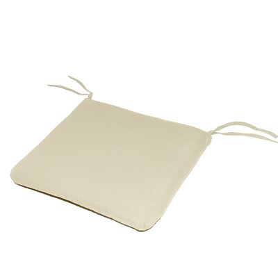 Outdoor Sunbrella Dining Chair Cushion Fabric: Canvas