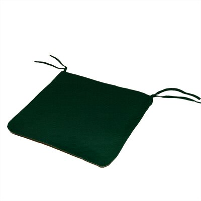 Waterfall Outdoor Sunbrella Dining Chair Cushion Fabric: Forest Green