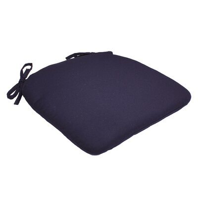 Outdoor Barstool Cushion Fabric: Navy, Size: 1.5 H x 16 W x 16 D