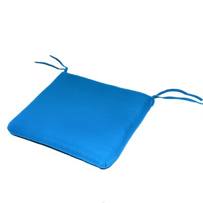 Outdoor Sunbrella Dining Chair Cushion Fabric: Pacific Blue