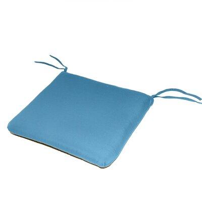 Outdoor Sunbrella Dining Chair Cushion Fabric: Sky Blue