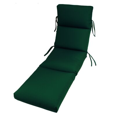 Outdoor Sunbrella Chaise Cushion Fabric: Forest Green