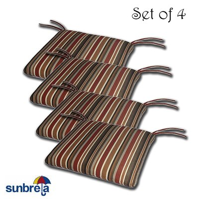 Knife Edge Outdoor Sunbrella Cushion Fabric: Brannon Redwood
