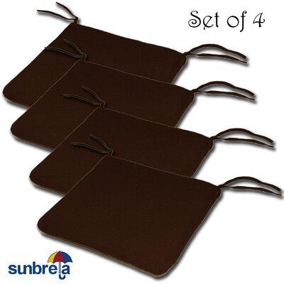 Knife Edge Outdoor Sunbrella Cushion Fabric: Bay Brown