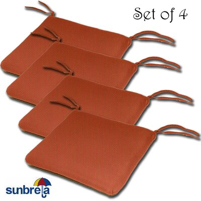 Knife Edge Outdoor Sunbrella Cushion Fabric: Brick