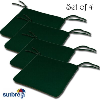 Knife Edge Outdoor Sunbrella Cushion Fabric: Forest Green