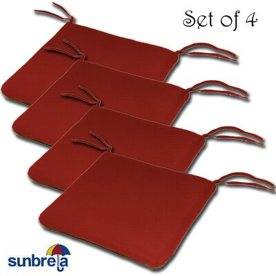 Knife Edge Outdoor Sunbrella Cushion Fabric: Jocky Red