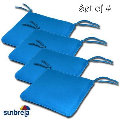 Knife Edge Outdoor Sunbrella Cushion Fabric: Pacific Blue