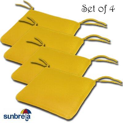 Knife Edge Outdoor Sunbrella Cushion Fabric: Sunflower