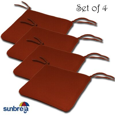 Knife Edge Outdoor Sunbrella Cushion Fabric: Terrcotta