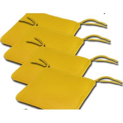 Outdoor Sunbrella Cushion Fabric: Sunflower, Size: 2H x 20W x 18D