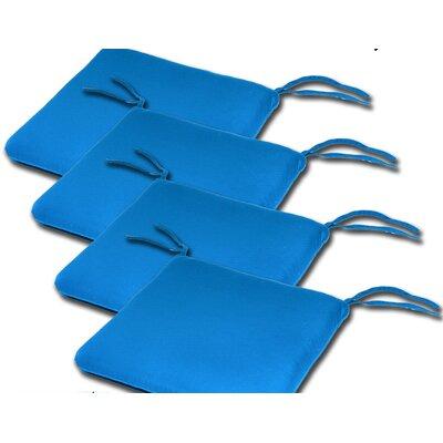 Outdoor Sunbrella Cushion Fabric: Pacific Blue, Size: 2H x 20W x 18D