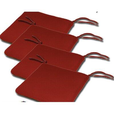 Outdoor Sunbrella Cushion Fabric: Jocky Red, Size: 2H x 20W x 18D