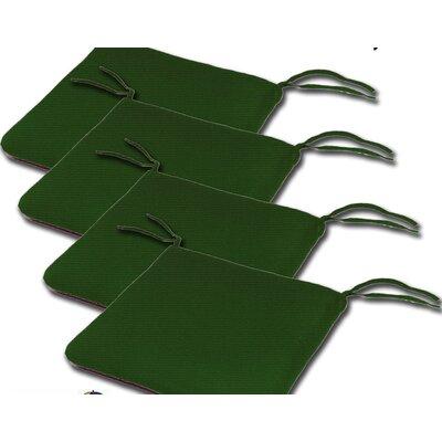 Outdoor Sunbrella Cushion Fabric: Palm, Size: 2H x 20W x 18D