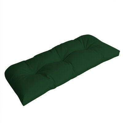 Wicker Outdoor Sunbrella Bench Cushion Fabric: Forest Green