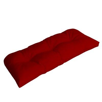 Wicker Outdoor Sunbrella Bench Cushion Fabric: Jockey Red
