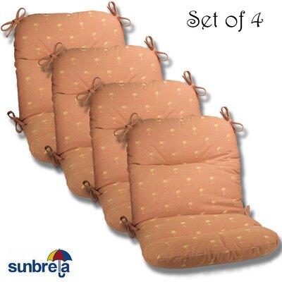 Outdoor Sunbrella Chair Cushion Fabric: Chili