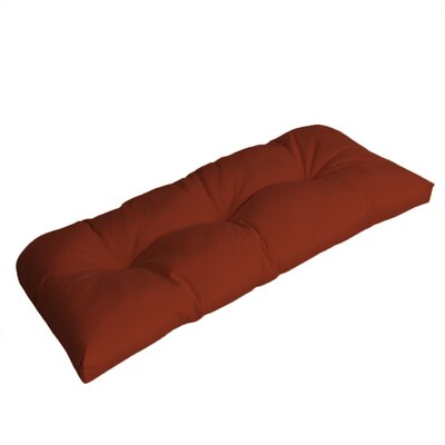 Wicker Outdoor Sunbrella Bench Cushion Fabric: Terracotta