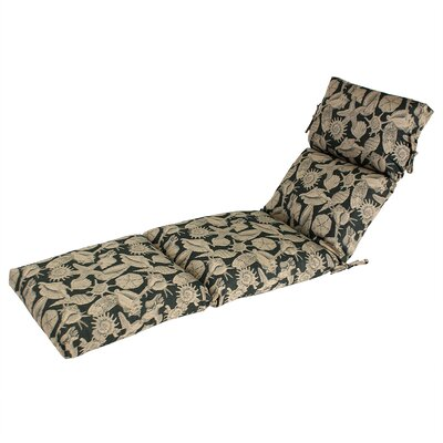 Outdoor Sunbrella Chaise Cushion Fabric: Sunbrella Reef Forest