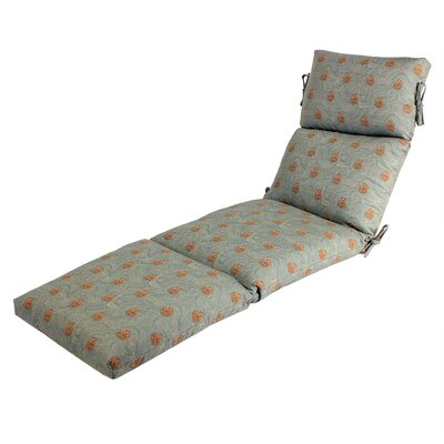 Outdoor Sunbrella Chaise Cushion Fabric: Sunbrella Shoreline Mist