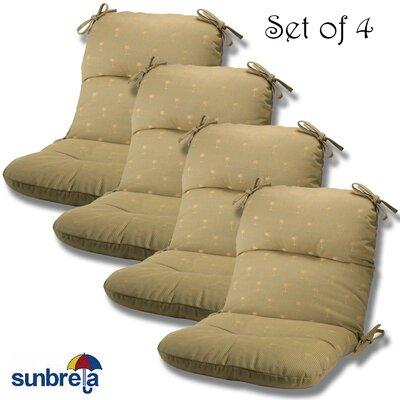 Outdoor Sunbrella Chair Cushion Fabric: Willow