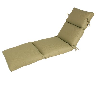 Outdoor Sunbrella Chaise Cushion Fabric: Sunbrella Ming Green Tea