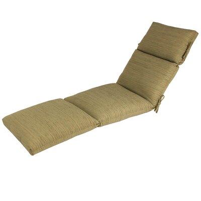 Outdoor Sunbrella Chaise Cushion Fabric: Sunbrella Chenilella Citron