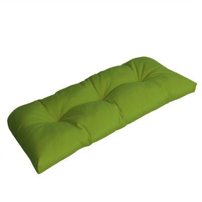 Wicker Outdoor Sunbrella Bench Cushion Fabric: Macaw