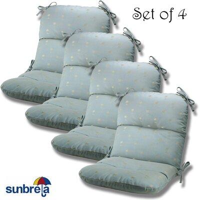 Outdoor Sunbrella Chair Cushion Fabric: Mist