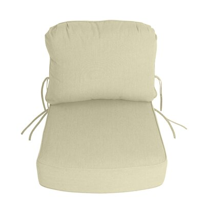 Outdoor Sunbrella Deep Setting Chair Cushion Fabric: Canvas
