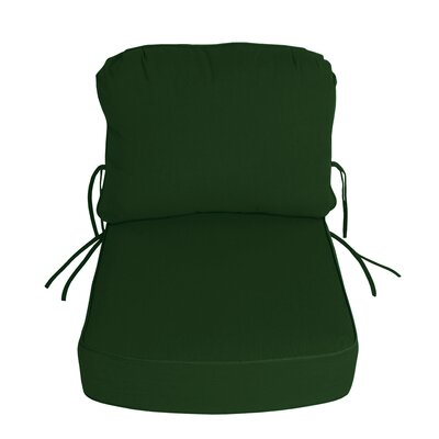 Outdoor Sunbrella Deep Setting Chair Cushion Fabric: Palm