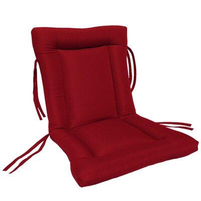 European Quilt Outdoor Sunbrella Chair Cushion Fabric: Jockey Red